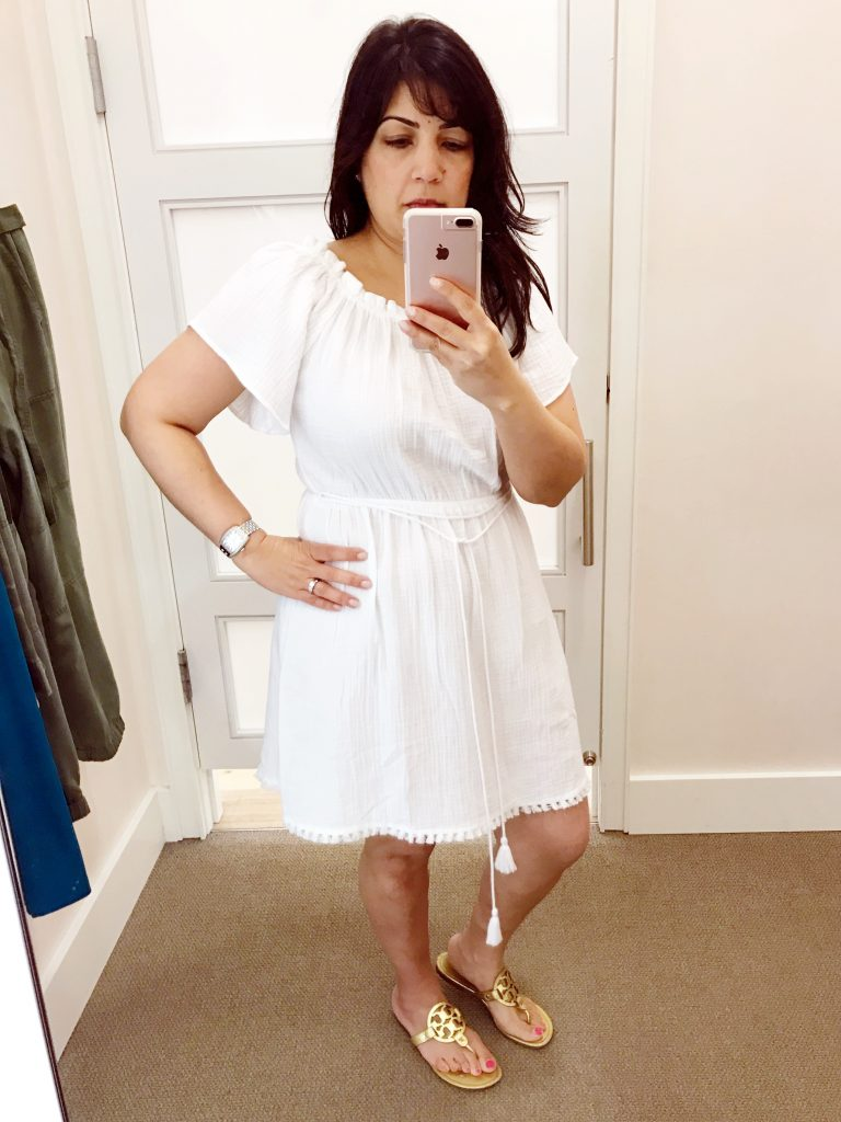 loft white dress. august 2017 loft dressing room diaries | @kissedwith curves loft white dress